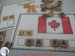 Scrabble Tile Spelling in French