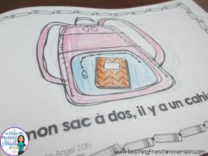 La rentrée!  Fun little book for Primary French Students!  dans mon sac à dos!