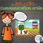 Fun oral communication game in French with an autumn theme!