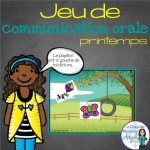 Great oral communication game in French!  Spring Themed!