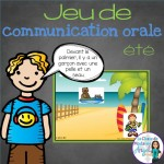 Fun oral communication game in French!  Summer themed!