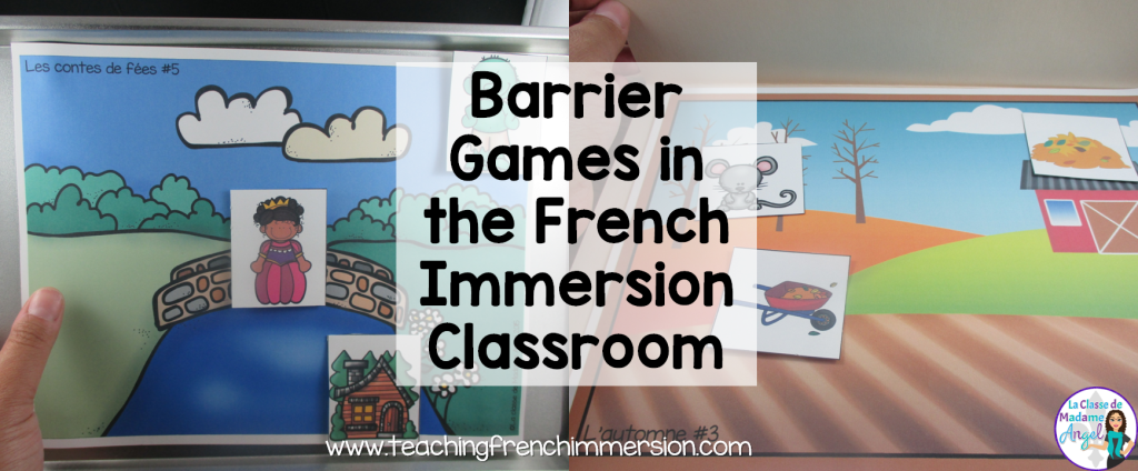 Great blog post about how to use barrier games in the French Immersion classroom.  Wonderful tool for Oral communication.