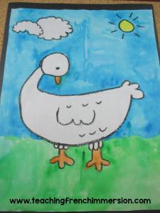 Fun art idea to do with Laura Wall's book, Gédéon.