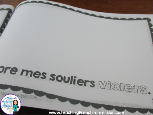 J'adore mes souliers - Great emergent Reader in French for La Rentrée!