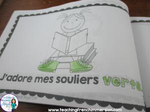https://www.teacherspayteachers.com/Product/La-Rentree-French-Emergent-Reader-with-colours-colors-Jadore-mes-souliers-1353103