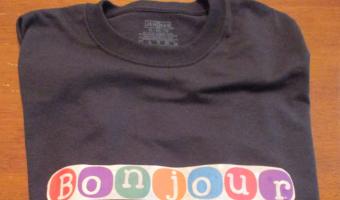 DIY Bonjour T-shirt!
