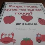 Read Aloud Wednesdays:   Rouge, rouge, qu'est-ce qui est rouge?