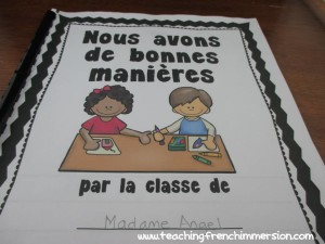 """""""J'ai de bonnes manières"""". Great resource for teaching about manners in French!"""