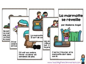 """Read aloud for """"Le Jour de la marmotte"""". What a great book to read for Groundhog Day in French."""