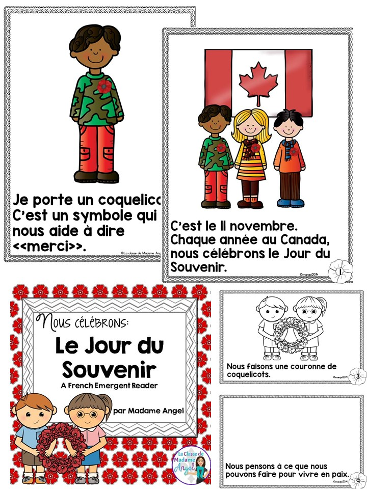 Le Jour du Souvenir. Teach your students all about Remembrance Day in French with this engaging emergent reader.