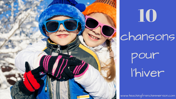 10 chansons pour l'hiver! Get your French students singing with this set of 10 winter themed songs.